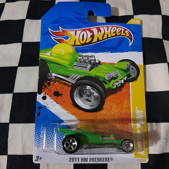 Hot Wheels 2011 First Edition Astro Funk Green Ed Roth Rat Fink Bubble  Show Rod