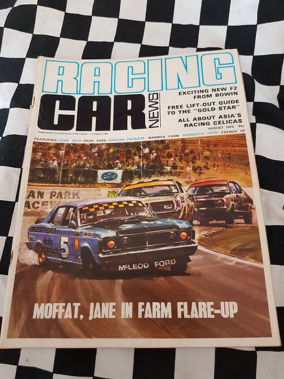 RACING CAR NEWS 8/72 xy gt e49 charger lj gtr xu1