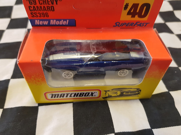 Matchbox 1996 Boxed 69 Chevy Camaro SS 396 convertible