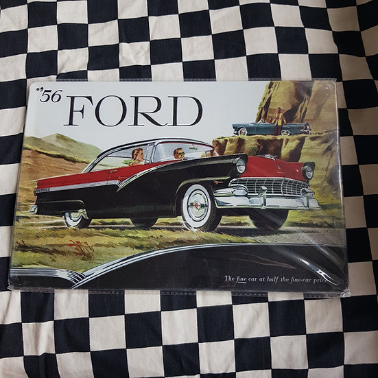 Tin Sign Repro 20x30 56 Ford