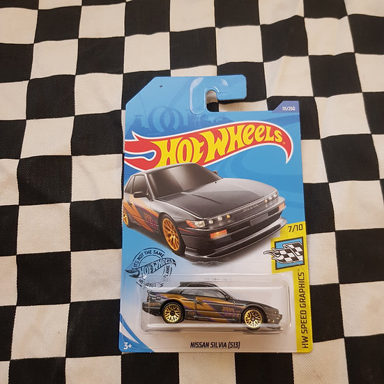 Hot Wheels 2020 Speed Graphics Nissan Silvia S13 Grey