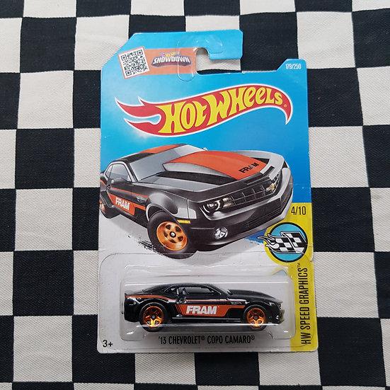Hot Wheels 2015 Speed Graphics Fram 13 Chevrolet Copo Camaro