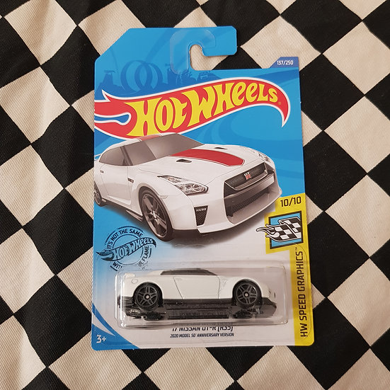 Hot Wheels 2020 Speed graphics 17 Nissan GTR R35 White