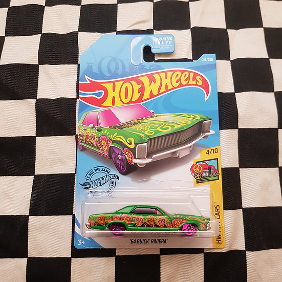 Hot Wheels 2020 Art Cars 64 Buick Riviera Green