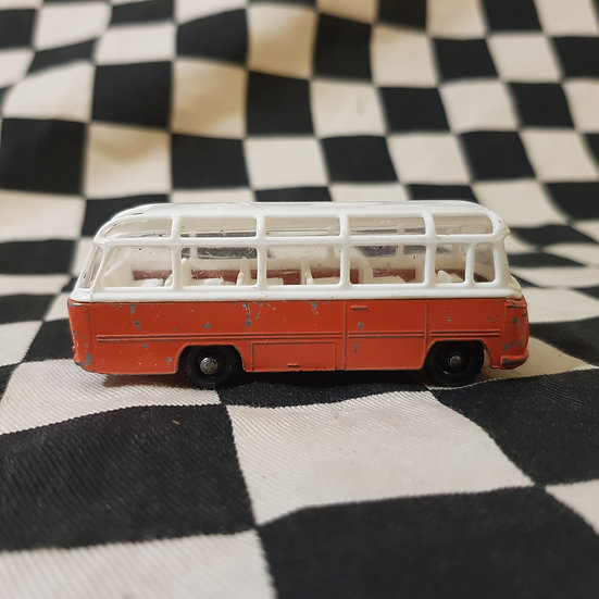 Vintage Loose Matchbox Lesney Mercedes Coach Orange/White