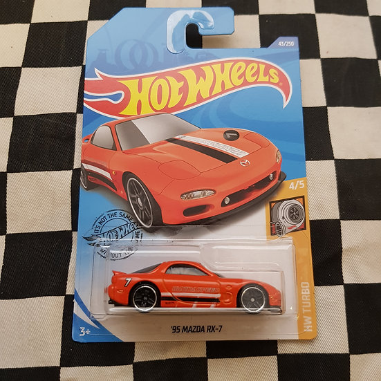Hot Wheels 2020 Turbo Series 95 Mazda RX7 Orange