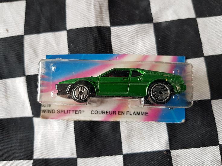 Hot Wheels Mid 80s GREEN Wind Splitter BMW (Mint Car On Cut Card)