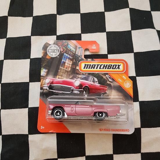 Matchbox 57 Ford Thunderbird Pink Short Card
