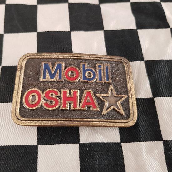Rare Original MOBIL OSHA Belt Buckle