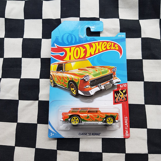 Hot Wheels 2018 Flames Classic 55 Nomad Chev Orange