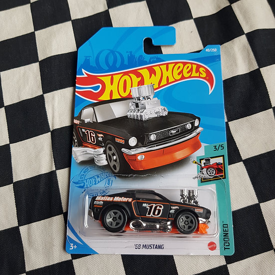 Hot Wheels 2021 Tooned 68 Mustang Black