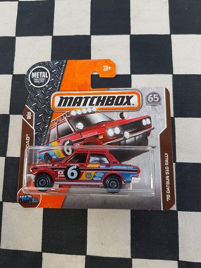 Matchbox 70 Datsun 510 Rally 1600