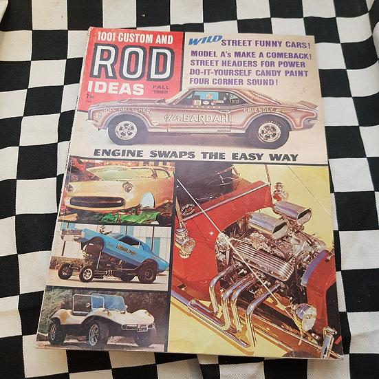1001 Rod & Custom Ideas Fall 1968 Magazine Camaro T bucket Funny Car