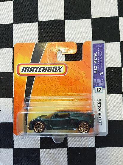 Matchbox 2008 Lotus Exige Green Short Card