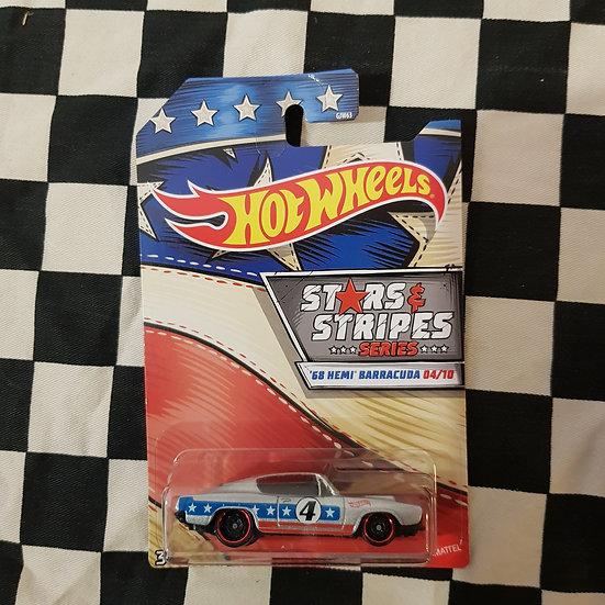 Hot Wheels 2020 Stars & Stripes 4/10 68 Hemi Barracuda