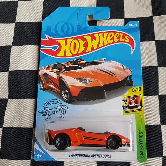 Hot Wheels 2019 Exotics Lamborghini Adventador J Orange
