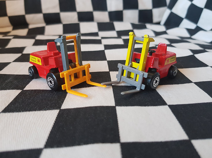 Matchbox Fork Lift Choice of 2 Variations from
