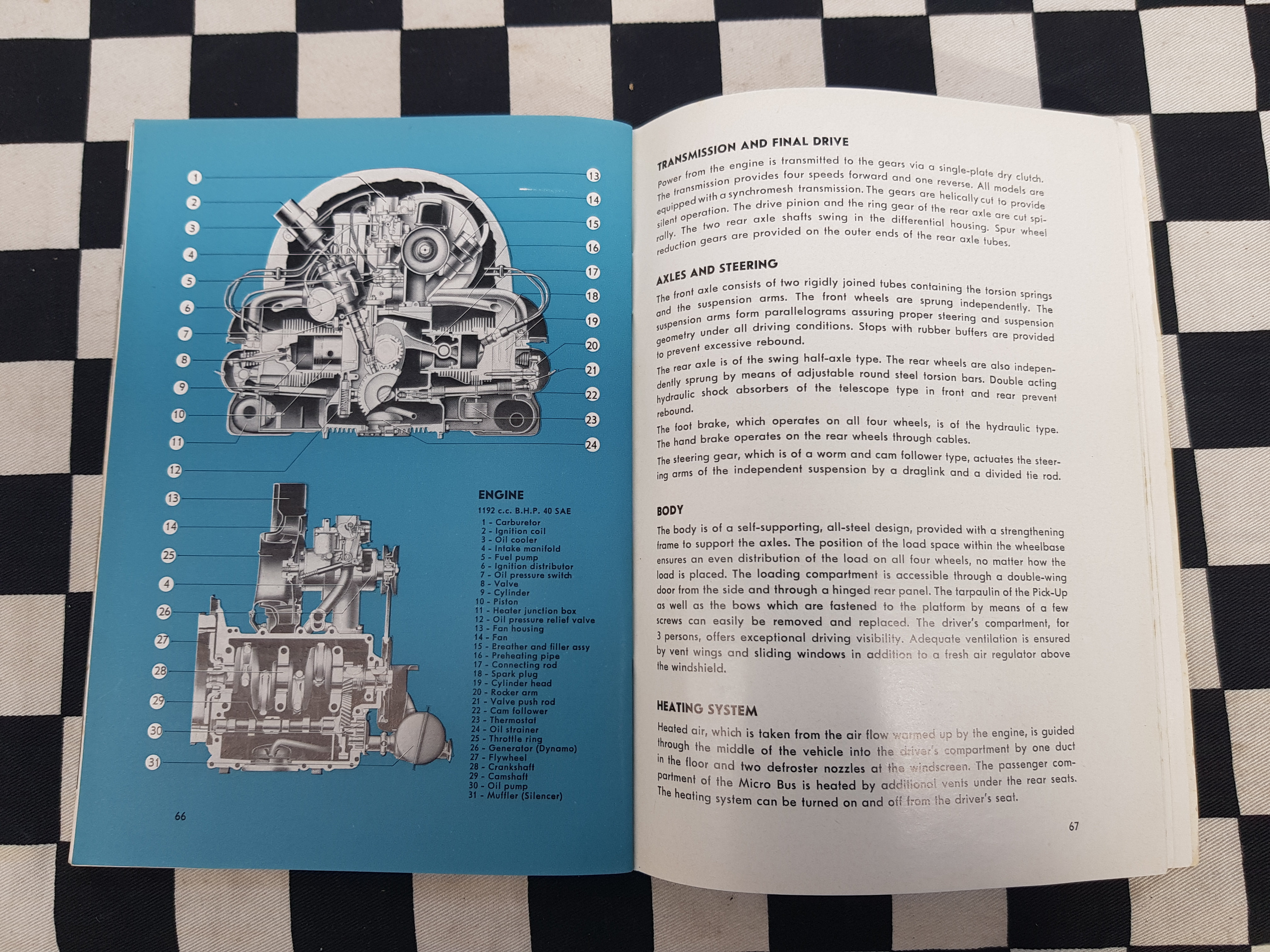 Rare! VW Transporter Kombi Owners Instruction Manual