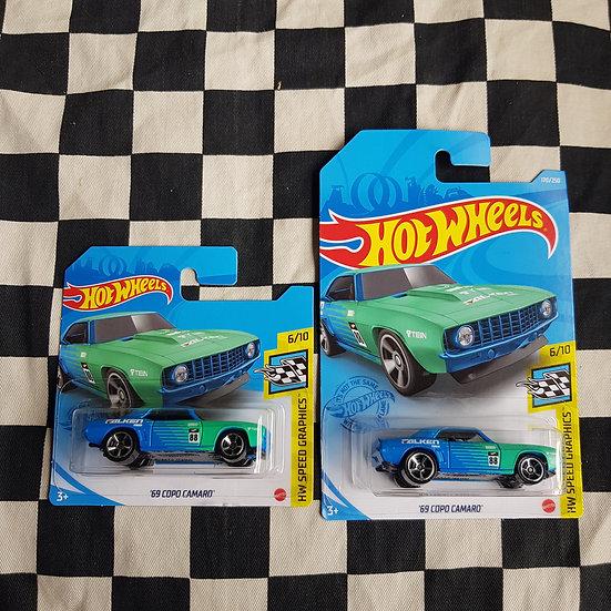 Hot Wheels 2021 Speed Graphics Falken 69 Copo Camaro Long/short Card