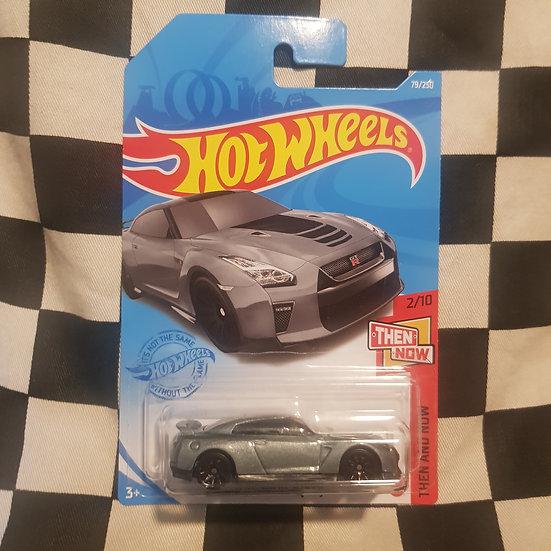 Hot Wheels 2021 Then & Now 17 Nissan GTR R35 Grey