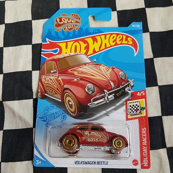 Hot Wheels 2021 Holiday Racers Volkswagen Beetle Valentines Day Love Bug