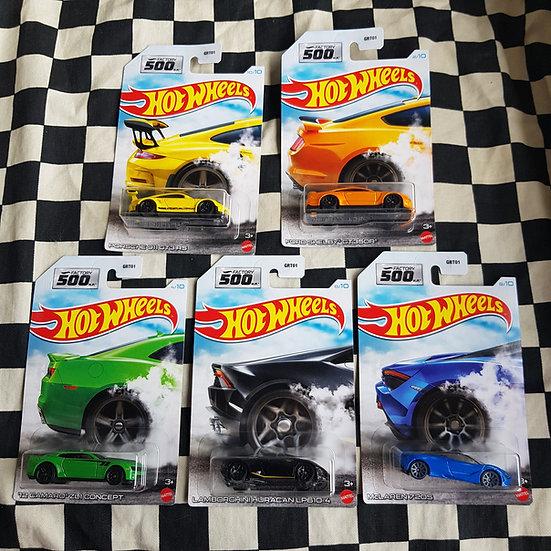 Hot Wheels 500hp Choice of Camaro Mustang Porsche Mclaren Lamborghini