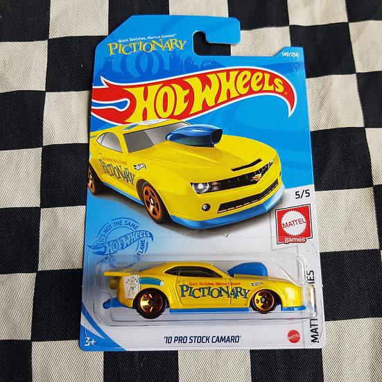 Hot Wheels 2021 Mattel Games Pictionary '10 Pro Stock Camaro