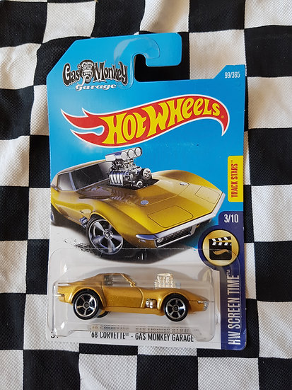 Hot wheels Gas Monkey Garage 68 Corvette gold