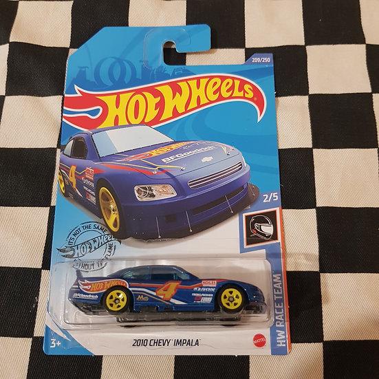 Hot Wheels 2020 Race Team 2010 Chevy Impala Stock Car Nascar