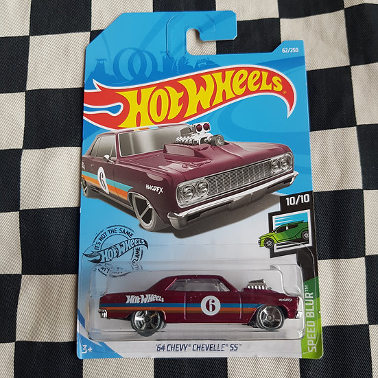 Hot Wheels 2019 Speed Blur 64 Chevy Chevelle SS Maroon