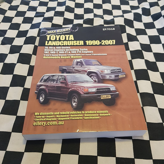 Ellerys Toyota Landcruiser 1990-2007 Diesel Workshop Manual