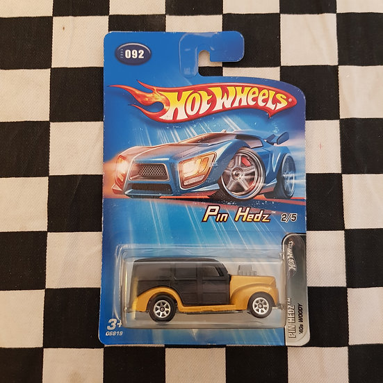 Hot Wheels 2005 Pin Hedz 40s Woody Ford Gold