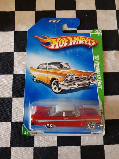 "Hot Wheels 2009 Treasure Hunt 57 Plymouth Fury ""christene"""