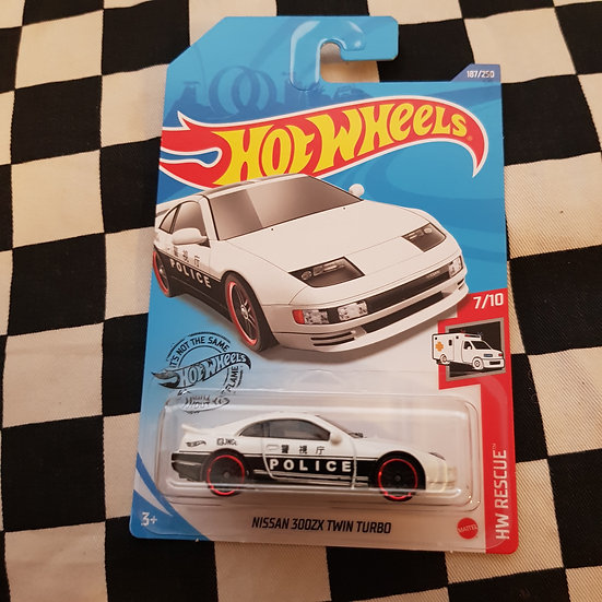 Hot Wheels 2020 Rescue Nissan 300ZX Twin Turbo White