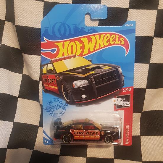Hot Wheels 2021 Rescue Dodge Charger Drift Fire Dept