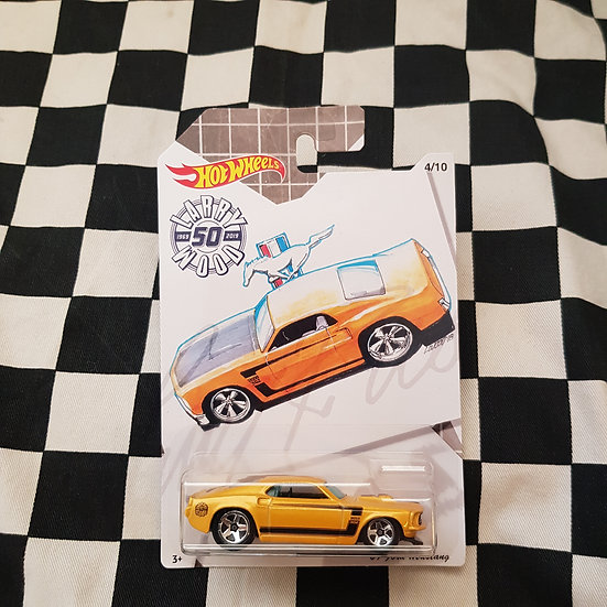 Hot Wheels 2019 Larry Wood 50th 69 Ford Mustang