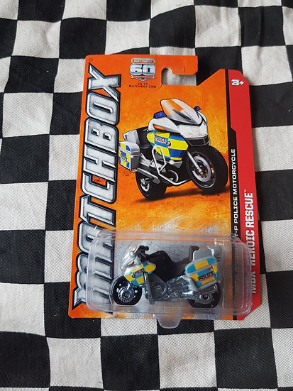 Matchbox 2012 BMW R1200 RT-P Police Motorcycle