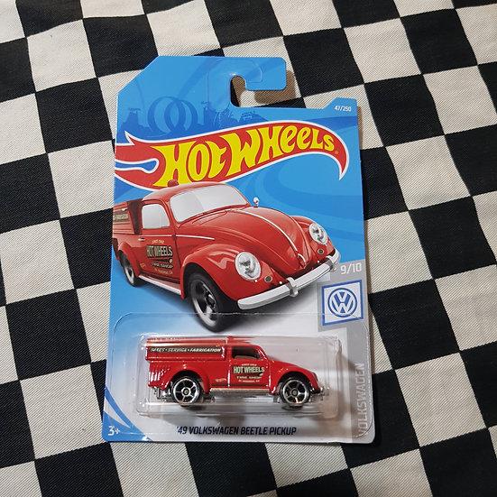 Hot Wheels 2019 49 Volkswagen Beetle Pickup Red