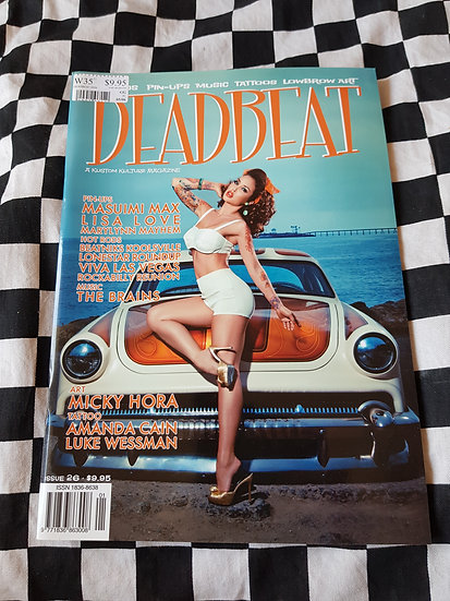 DEADBEAT Magazine #26 Hotrods Pinups Music Tattoos Lowbrow Art