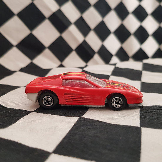 Hot Wheels Loose Ferrari Testarossa RED 4 Red/white Interior
