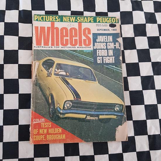 Wheels Magazine Sept 1968 (Rough Cover) HK Monaro GTS Brougham