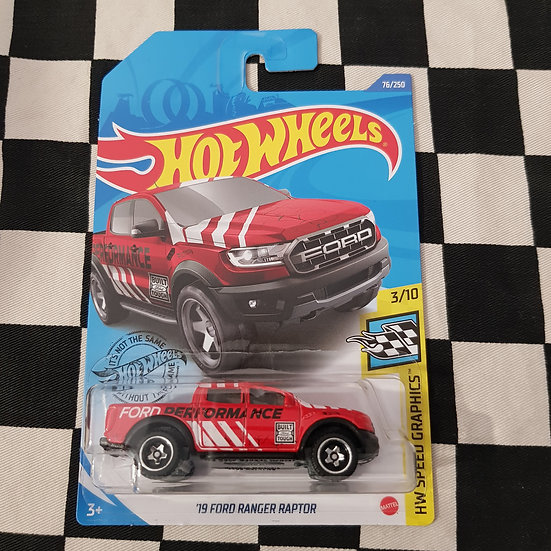 Hot Wheels Speed Graphics 19 Ford Ranger Raptor Ford Performance Red