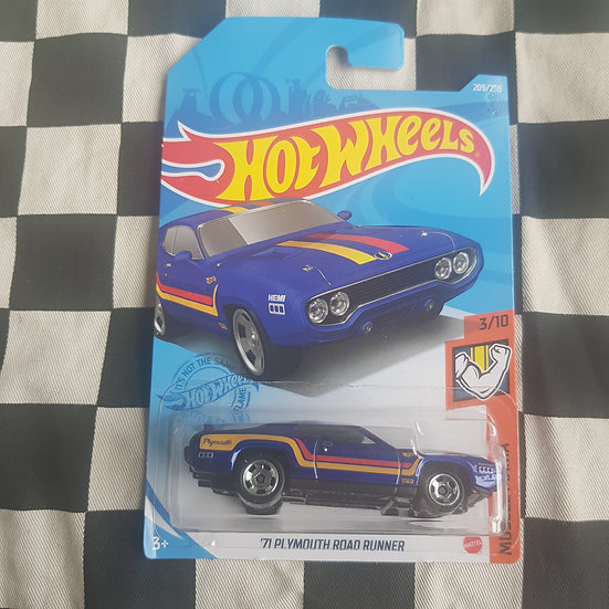 Hot Wheels 2021 Muscle Mania 71 Plymouth Road Runner Blue