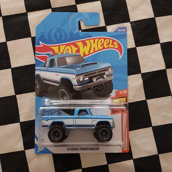 Hot Wheels 2020 Hot Trucks 70 Dodge Power Wagon Blue Mopar 4X4
