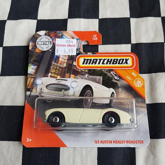 Matchbox MBX City 63 Austin Healy Roadster Cream Short Card