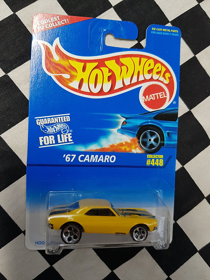 Hot Wheels 1995 Blue Card #448 67 Camaro Yellow