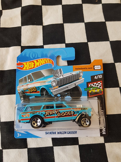 Hot Wheels 2019 Race Day 64 Nova Wagon Gasser