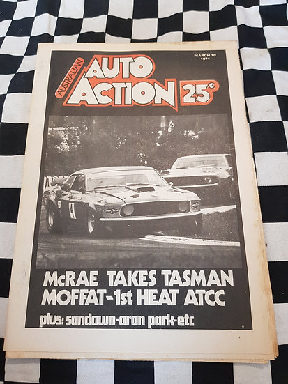 Australian Auto Action Magazine #2 Mar 10 1971