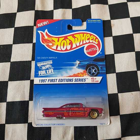 Hot Wheels 1997 First Edition 1959 Chevy Impala Pink