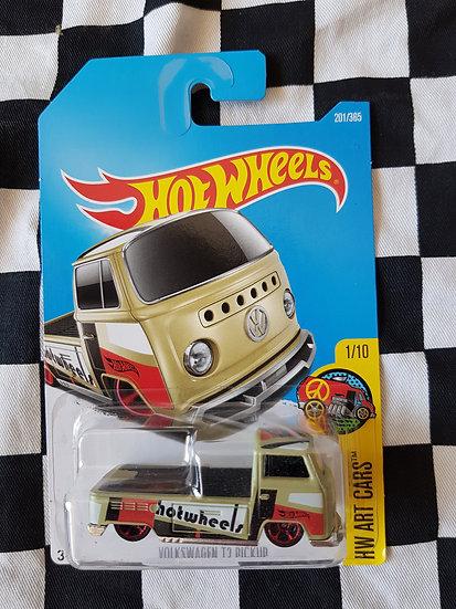 Hot wheels Volkswagen t2 pickup olive (kombi)